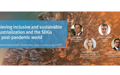 Achieving Inclusive and Sustainable Industrialization and the SDGs in a Post-Pandemic World: High-Level Virtual Event