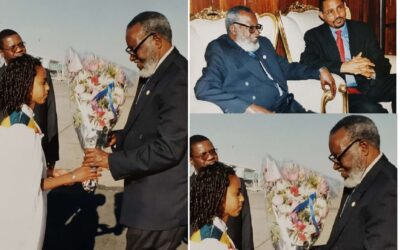 Former President Sam Nujoma & SWAPO leader in Addis Ababa in 2004